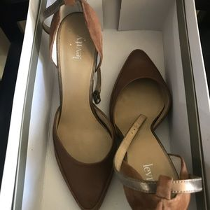 Shoes - Levity brown suede and leather heels pumps